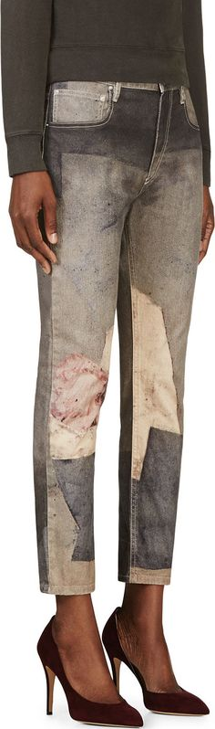 Isabel Marant: Grey & Pink Abstract Valone Trousers