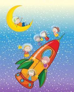 Дети на ракете