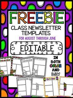free superhero editable newsletter template september pinterest