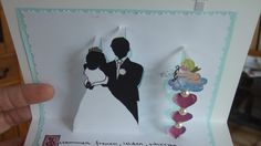 Zur Hochzeit, Hochzeitskarte, 3D Pop up