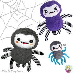 ❤🕸🕷✂ Let\'s kick off our Halloween Pattern Month with our NEW #dollsanddaydreams a super fun and oh so cute Smiley Spider pattern!! ★★ OUT Today!! ★★ . 🕸Super fun and fast 🕸 ✂ Comes in both a #sewingpattern and #machineembroidery #ith pattern as well! ✂ ❤ shop link in Bio 💘😙  .   #spider #halloween #diyhalloween #spiders #softtoy #handmadetoy #plushie #plush #plushtoy #handmadeplush #sewingforkids #sewingproject #softies #stuffedtoys #stuffedtoy #sewingforkids #sewingforbaby #stuffies #stu...