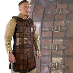 Brown Leather Brigandine Armor
