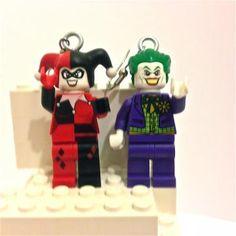 LEGO® The Joker and Harlequin Earrings by BrickShtick for $46.00 #zibbet