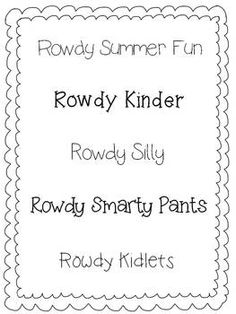 Rowdy Fonts Sampler- FREE!