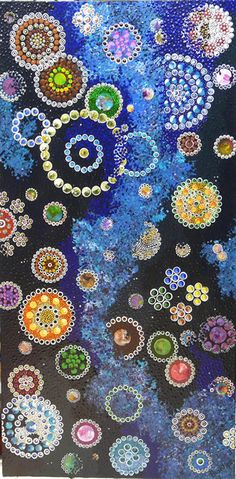 (Australia) by Roger Bushfire Saunders. Aboriginal Dot Art, Aboriginal Painting, Aboriginal Culture, Dot Painting, Encaustic Painting, Art Sculpture, Australian Art, Indigenous Art, Of Wallpaper