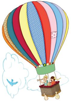 Hot Air Balloon; art - illustration