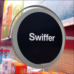 Swiffer Gondola Upright Sign Branding – Fixtures Close Up Silhouette Sign, Close Up, Target, Retail, Branding, Display, Signs, Billboard, Shop Signs