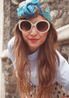 great waves and a #turban #foulard #hair
