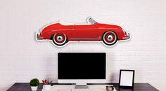 Halmo collectie Porsche 356 Speedster plexiglas model  Grote plexiglas model vertegenwoordigt de Halmo interpretatie van de legendarische PORSCHE 356 SPEEDSTER afgedrukt en vorm op een 90x30cm (L) transparant plexiglas 5 mm dik. Wij volledig herontwerp van deze legendarische auto als u wilt dat een uniek resultaat dit is een Half Model van uw droomauto te worden opgehangen aan de muur via uw bank of te worden opgehangen over je auto in uw garage. Dit model is in feite vocht bestendig. Deze…