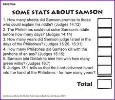 old testament book lesson samson look up some stats about samson kids korner biblewise - Samson Delilah Coloring Pages