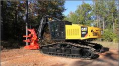 New products – Full tail-swing, tracked feller bunchers from Caterpillar