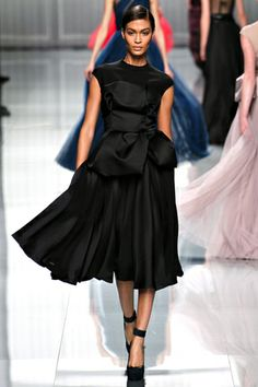 Christian Dior fall 2012 rtw on Joan Smalls (IMG) black dress cocktails ... love these shoes...also seen in deep red in Sept 2012 Allure Magazine