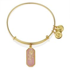 Alex and Ani Road To Romance Rose Expandable Wire Bangle | Yellow Gold ($38) ❤ liked on Polyvore featuring jewelry, bracelets, gold, expandable wire bangle, gold bangle bracelet, charm bangle, wire bangle bracelet and gold bangles