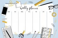 Free Printable Calendar, Free Printables, Daily Routine Chart, Weekly Planner, Banner, Bullet Journal, Study, Organization, How To Plan