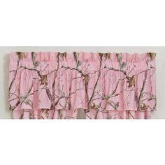 Amazing Pink Camo Valance, Curtains