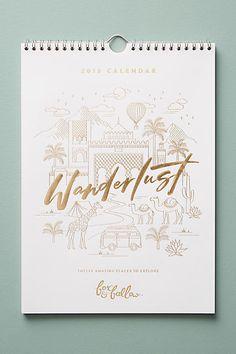 Fox & Fallow Wanderlust 2018 Calendar - #afflink