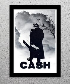 Johnny Cash Original Limited Edition Art by CultClassicPosters, $20.00