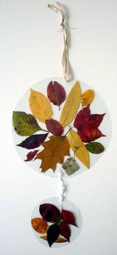 Fensterbilder - Natur Basteln - Meine Enkel und ich - Made with schwedesign. Autumn Crafts, Fall Crafts For Kids, Nature Crafts, Diy For Kids, Diy And Crafts, Arts And Crafts, Autumn Activities, Activities For Kids, Little Birds