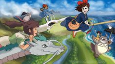 "Studio Ghibli France en Twitter: ""#Chihiro, #Kiki, #Nausicaä et #Totoro se…"