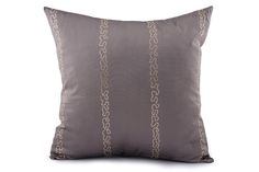 Sequin Embroidered Striped Cushion Cover by Suraaj Linens