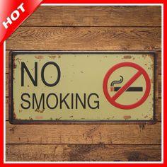 Shabby Chic NO SMOKING Vintage Tin Sign Vintage Metal Sign Placas Decorativas Metal Poster Plaque Metal Decorative Vintage Pub