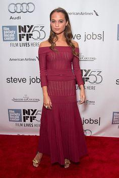 Alicia Vikander Daily — Alicia at the Steve Jobs screening at NYFF.
