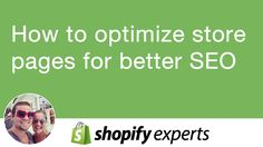 How to optimize shopify store page for better SEO using title, descripti...
