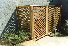 pool pump air conditioner fence cover | cover for pool equipment & air con unit! for dad to make next week....