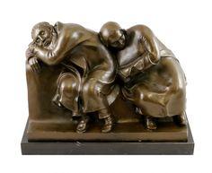 "Ernst Barlach, ""Sleeping Peasant Couple,"" Bronze Sculpture, 1912."