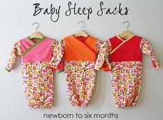 Free pattern: Baby Sleep Sack or Spring Scrunched Baby Dress – Sewing Free Baby Patterns, Sewing Patterns Free, Free Sewing, Sewing Tutorials, Free Pattern, Knitting Patterns, Sewing Projects, Kids Patterns, Craft Patterns