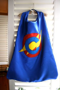 Blue Super Hero Cape / Reversible / Customize