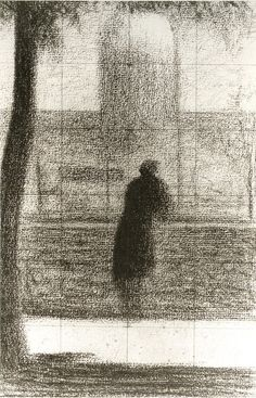 Man Leaning on a Parapet - The Invalid, 1881, Georges Seurat