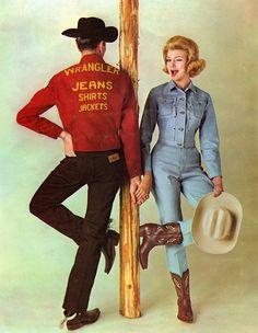 1960 Wrangler Jeans advertisement.