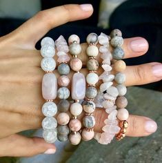 made accessories bracelet Rose Centered Bracelet - Rose Quartz + Pink Zebra Stone + Rose Gold (Healing, Yoga, Love, Happiness) Gemstone Bracelets, Handmade Bracelets, Gemstone Jewelry, Handmade Jewelry, Paracord Bracelets, Fairy Jewelry, Boho Jewelry, Beaded Jewelry, Necklaces