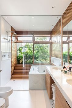 Home Design Decor, Dream Home Design, Home Interior Design, House Design, Style At Home, Bathroom Design Luxury, House And Home Magazine, Luxurious Bedrooms, Beautiful Bathrooms