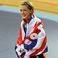 Team GB - Double Gold medalist in the velodrome -  Laura Trott.