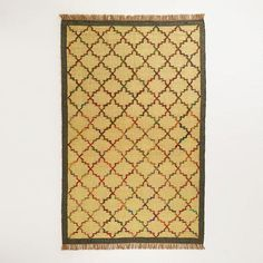 One of my favorite discoveries at WorldMarket.com: 5' x 8' Lattice Design Flat Weave Jute and Recycled Silk Rug