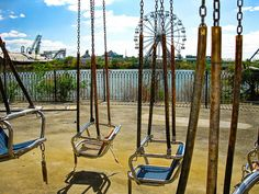 abandoned six flags. new orleans.