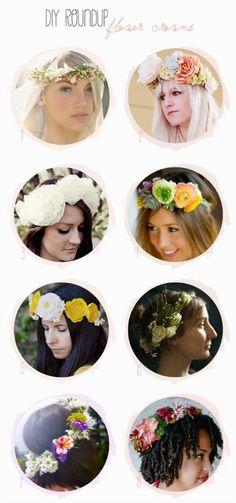 8 Flower Crown Tutorials via Belle & Chic