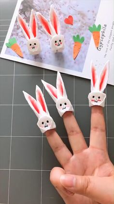 A simple tutorial to show you how to diy cute rabbit figures please us if you love our work survival knots hacks ropeaccess ropeaccesslife climbing hiking mountain climber bouldering Paper Crafts Origami, Diy Crafts For Gifts, Paper Crafts For Kids, Diy Home Crafts, Easter Crafts, Paper Crafting, Diy For Kids, Arts And Crafts, Origami Easy