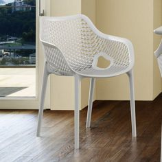 Compamia Air XL Outdoor Dining Arm Chair - Set of 2 | from hayneedle.com