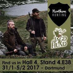 Meet Northern Hunting at @jagdundhund in Dortmund, Germany. Looking forward to see you and show our new clothing and collection. #jagd #jagdundhund2017 #jagdundhund #jagdkleidung #hunting #huntingfair #huntingclothing #jagdmesse #dortmund #hunt #northernhunting @northernhunting_com www.northernhunting.com Looking Forward To Seeing You, Show Us, Hunting Clothes, Germany, Meet, Clothing, Movie Posters, Collection, Hunting