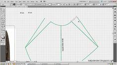 Model uygulamalı etek 24 / The model applied pattern skirt 24