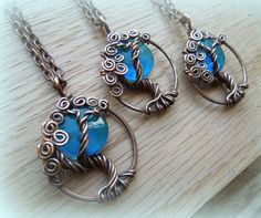 Blue Moon Necklace-Tree of Life-Azul by VixensNaturalJewelry