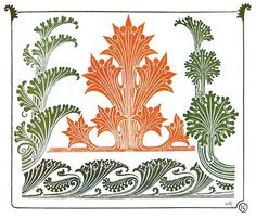 Plate 16    Maurice Pillard Verneuil, from Combinaisons ornementales (Ornamental combinations), Paris, not dated.    (Source: archive.org)