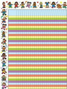 Cute Kids Attendance or Goal Chart