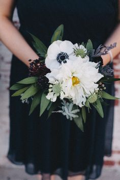 #anemones #bouquet Photography by jacshoot.com, florals by http://www.hollyflora.com  Read more - http://www.stylemepretty.com/2013/08/12/los-angeles-wedding-from-jac-photography/