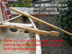 The O'locks need to be well above the water to give maximum swing room due to the low seating in a canoe. Thus, the built up socket height. Too low and you end up hitting the waves too much with the blade. - See this image on Photobucket.