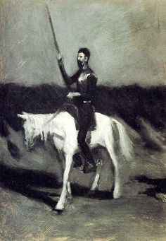 Edward Hopper Don Quixote on Horseback oil painting for sale; Select your favorite Edward Hopper Don Quixote on Horseback painting on canvas or frame at discount price. Edward Hopper, Robert Rauschenberg, Gustave Dore, David Hockney, Albert Dubout, Ashcan School, Dom Quixote, Fantasy Fiction, Whitney Museum