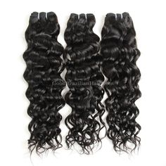 This #brazilianhair is easy to manage and maintain, no shedding and tangle free, Brazilian wet and wavy hair with #naturalwave texture and natural human hair feeling. #goodbrazilianhair